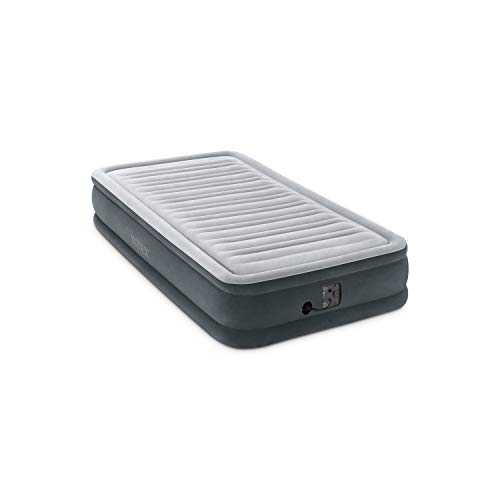 "Intex Comfort Plush Mid Rise Dura-Beam Airbed with Internal Electric Pump, Bed Height 13"", Twin"