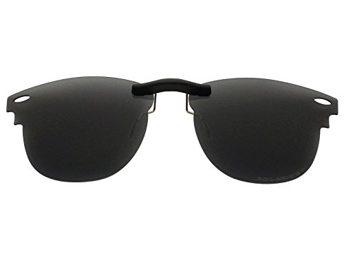 Custom Fit Polarized CLIP-ON Sunglasses For Ray-Ban RB3016 51X21 ()