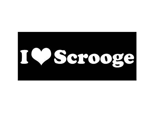 I Heart Scrooge (Black Magnet) -