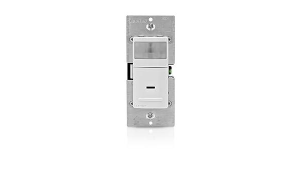 Leviton IPV15-1LZ 1800 vatios incandescente, 600 vatios LED / CFL Vacancy Sensor (Manual ON / Auto OFF), un solo polo o 3 všªas: Amazon.es: Bricolaje y ...