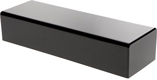 Plymor Brand Black Acrylic Rectangular Display Base, 3