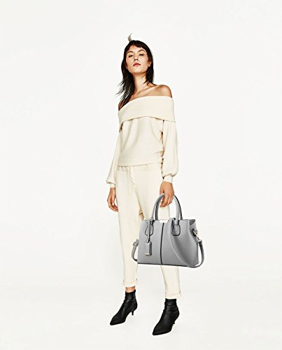 Messenger wallet color shoulder leather Tisdaini Women simple bag simple Gray PU fashion handbag nP1xF1R
