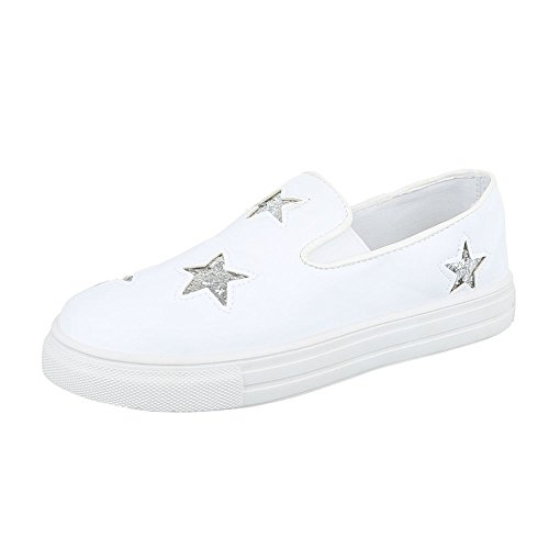 Low Freizeitschuhe Sneakers 2 Weiß Moderne Damenschuhe Design Sneakers F05 Ital Low wqpx1SEZp0