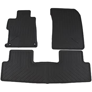 Captivating Genuine Honda Accessories 08P13 TR0 110A Black All Season Floor Mat For  Select Civic