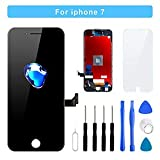 for iPhone 7 Screen Replacement - LCD Display 3D Touch Screen Digitizer Frame Full Assembly with Repair Tool Kits and Screen Protector (Black 4.7 Inch)