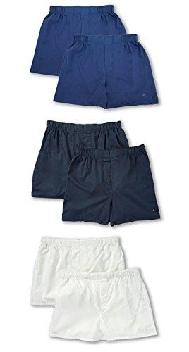Gray Cotton Boxer Shorts - Joseph Abboud Men's 6 Pack Cotton Classic Woven Boxers (X-Large, 6 PK- BLUE /GRAY/ WHITE)
