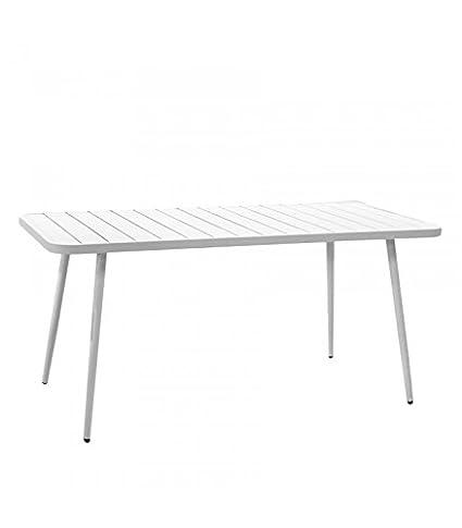 Tavoli Da Giardino In Alluminio Amazon.Vacchetti S P A Tavolo Da Giardino In Alluminio Las Vegas Bianco