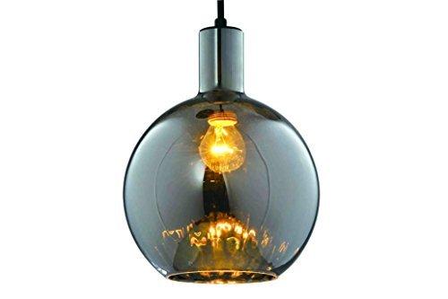 Moderne retro vintage glaskugel lampara kugel hängeleuchte chrom