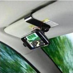 Soporte para llevar el teléfono móvil en el parasol del coche: Amazon.es: Electrónica