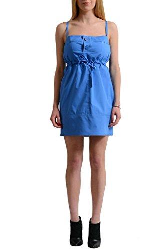 Bretelles Spaghetti Des Femmes Bleu Dsquared2 Gaine Bleue Robe