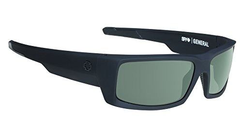 Spy Optic General Flat Sunglasses, Ansi Matte Black/Gray, 60 - General Spy Sunglasses