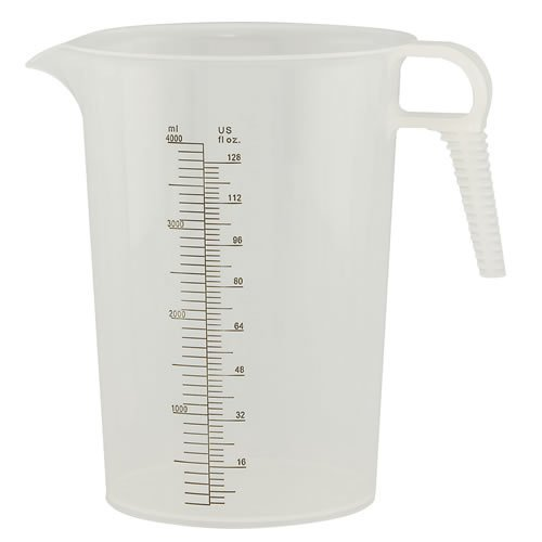 Verified Exchange 128 oz. Accu-Pour PP Measuring Pitcher (1 Pitcher) (Small Container Measuring)