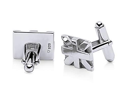 Sterling Silver Union Jack Cufflinks - Silver Union Jack