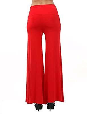 TWINTH Womens High Waisted Palazzo Lounge Pant