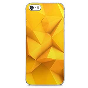 iPhone SE Transparent Edge Phone case Yellow Geometrical Phone Case Geometry Pattern iPhone SE Cover with Transparent Frame