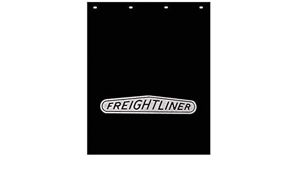 GG Grand General 30895 24 X 30 Inches White Poly Mud Flap w//Red Freightliner Logo
