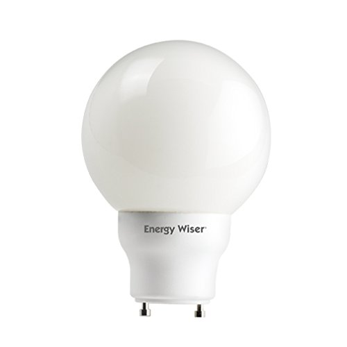 - 15W Twist And Lock G25 Compact Fluorescent Globe in Warm White [Set of 3]