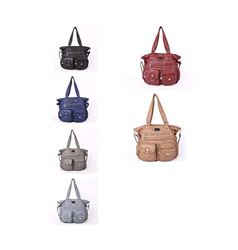 Crossbody Bolso Messenger De Resistente Trabajo Femenina Compartimentos Mensajero Al Bolsa Impermeable Gris Multiusos Con Layxi Desgaste Handbag 64OAw5q