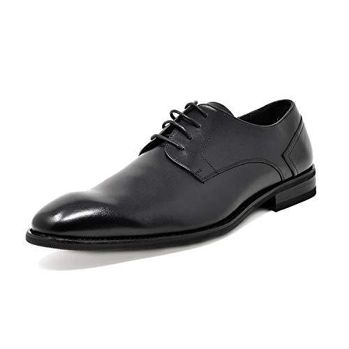Bruno Marc Men's Black Dress Shoes Plain Toe Oxfords Washington-1 Size 10 M US