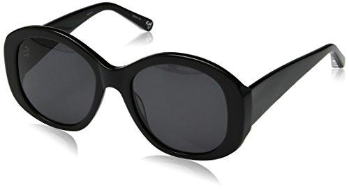 Elizabeth and James Women's Kay Round Sunglasses, Black, 54 - Sunglasses James