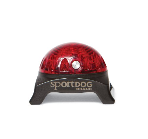 SportDOG Brand Locator Beacon - Bright, Waterproof Dog Collar Light with Carabiner - Flashing or Solid Safety Light can be used for Night Walking, Jogging, Camping, Hunting, or Hiking - Red ()