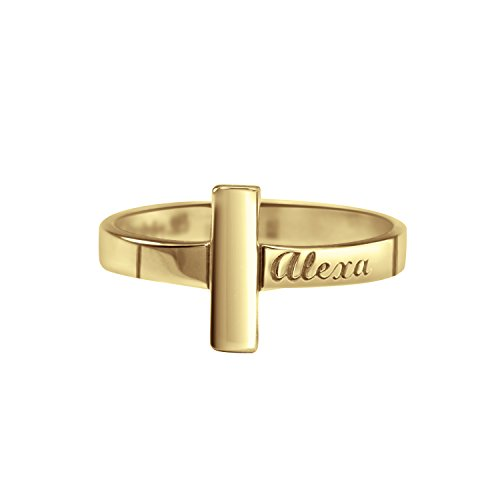 Personalized Sterling Silver Gold Plated Lords Cross Ring by personalizedjewelryboutique