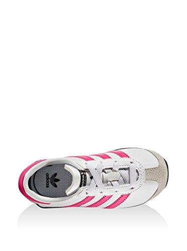 adidas Unisex-Kinder Country OG El I Gymnastikschuhe, Weiß/Rosa Bianco/Fucsia