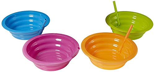 Arrow Home Products 26544 Sip-a-Bowl, 4-Pack, Assorted Colors