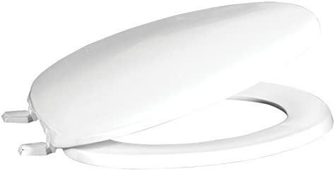 Perma Products TOILET SEAT Easy Fix Polypropylene in Black Ivory or White