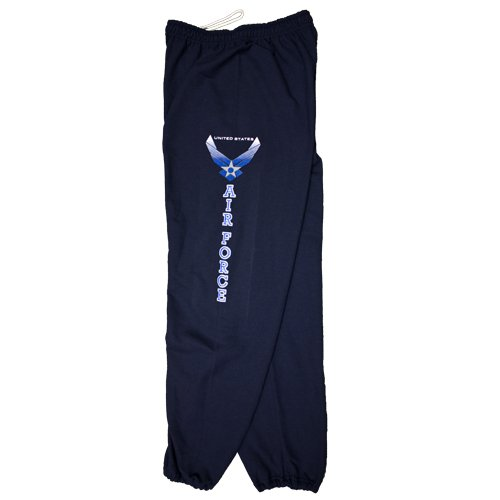 Fox Outdoor Products Air Force Sweatpants, Navy, Large