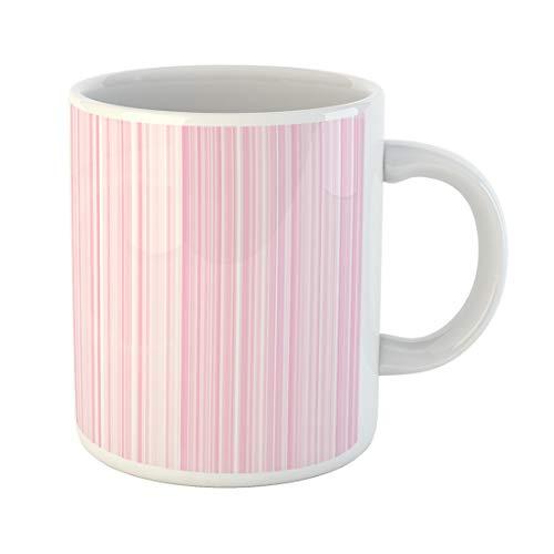 Semtomn Funny Coffee Mug Pink Stripe Background Pattern Wallpaper Texture Line Vertical Design Fashion 11 Oz Ceramic Coffee Mugs Tea Cup Best Gift Or Souvenir