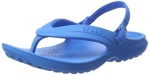 crocs Kids' Classic K Flip Flop, Ocean, 11 M US Little Kid