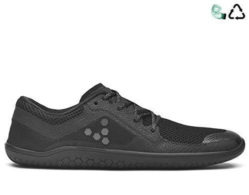 vivobarefoot Primus LITE Men's Running Trainer Shoe, All Black, 43 D EU (10 US)