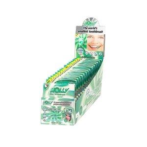 Rolly - RB1058, cepillo de bolsillo, sabor menta – Dispensador de 15 estuches con
