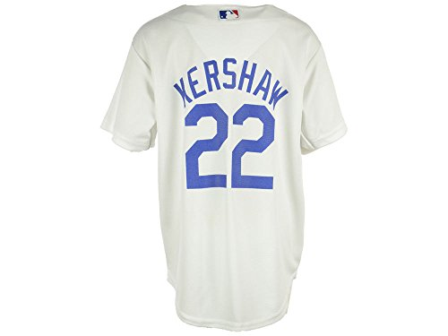 Los Angeles Dodgers Clayton Kershaw Youth Cool Base White Re