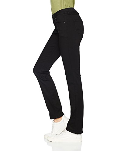 Nero Dana Mid 945 Straight Jeans Dnbst Jeans Rise Sandy Donna Stretch Black Tommy 87wz5qx