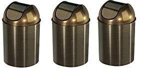 Umbra Mezzo Swing-Top Waste Can, 2.5-Gallon (10 L), Bronze (3-(Pack))