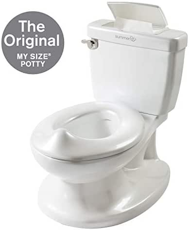 Summer Infant My Size Potty - Training Toilet for Toddler Boys & Girls - with Flushing Sounds and Wipe Dispenser