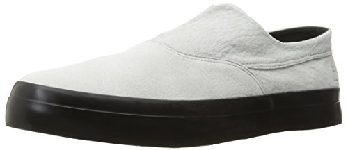 HUF Men's Dylan Slip on Skateboarding Shoe, White/Black, 9.5 US/9.5 M US