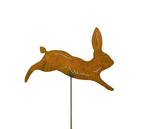 Running Rabbit Rusty Metal Garden Stake