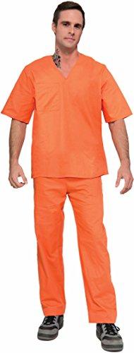 [Adult Orange Prisoner Halloween Costume] (Prison Halloween Costumes)