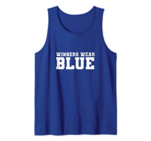Winners Wear Blue Color War Camp Team Game Competition Tank Top]()
