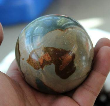 Dalas 50mm Natural Polychrome Ocean Jasper Sphere Crystal Rock ()
