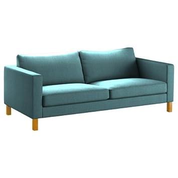 Amazonde Pimp Your Couch Karlstad 3er Sofa Bezug Stoff Wave Blau