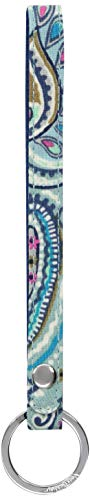 Vera Bradley womens Iconic in The Loop Keychain, Signature Cotton, Daisy Dot Paisley, One Size ()