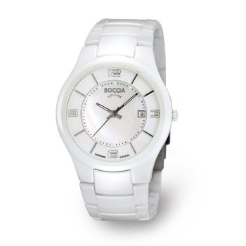 3196-01 Boccia Titanium Ladies Watch in White Ceramic