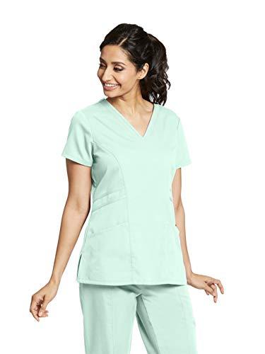 Grey's Anatomy 41452 V-Neck Top Aqua Mist - Aqua Scrub Body
