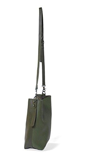 Verde MAMBO Oscuro tote bolso grande verde granate mujer bandolera mujer shopper Bolsos y rosa bolsos Bolsos wp4qOg7O