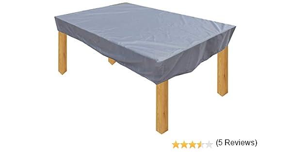 KaufPirat Premium Funda para Muebles de Jardín 180x100x15 cm Cubierta Impermeable Funda para Mesa para Mobiliario de Exterior Antracita: Amazon.es: Jardín