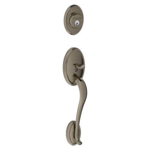 Schlage F58WKF620 Wakefield Exterior Handleset with Deadbolt, Antique Pewter (Exterior Half Only)